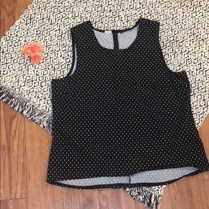 NWOT Jules & Leopold Polka Dot Sleeveless Top